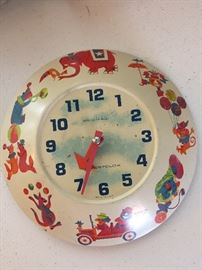 Vintage metal child's clock