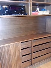 denon, sony hand made cabinetry