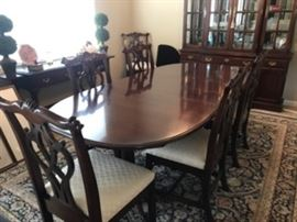 $995.00 for this Walter of Wabash dining table with 3 leafs and 6 chairs