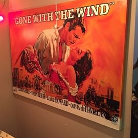 """Gone with the Wind"" hand painted silkscreen on canvas ""certificate of authenticity"" Steve Kaufman"