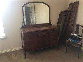 A 1920's Dresser with mirror