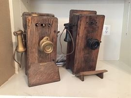 Old Wall Hand Crank Telephone