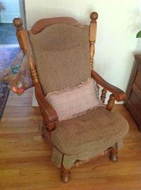 Antique Wood Arm Chair $ 60.00