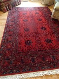 "Kashimar Collection Red Area Rug 6.6"" X 10.2"""