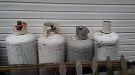 empty propane tanks