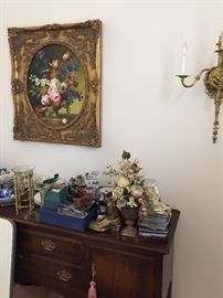 Buffet and painting