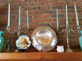 STerling silver candelabras, sterling silver centerpiece bowl louie IV from dated 1913