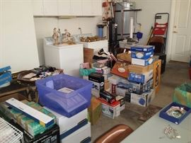 So many small appliances NEW still in the box.