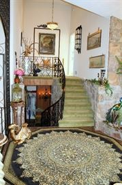 Upstairs and downstairs from foyer