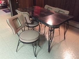1950s table and chairs