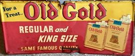 Old Gold Metal Sign 1930's
