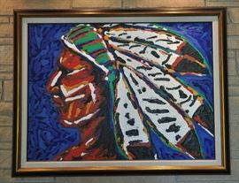 Large painting by New Mexico artist David Perez Escudero