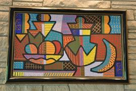 Abstract painting by David Perez Escudero