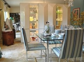 View into the formal dining room  TABLE, CHAIRS, WALL UNIT SOLD