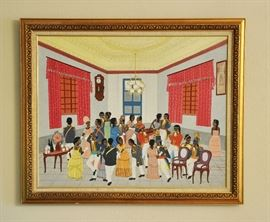 Painting by Haitian artist Garry Dorsainvil.  He painted with the more well known Jean-Baptiste Jean.