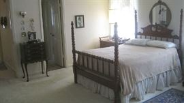 Davis Cabinet Lillian Russell bed, small silverware chest between the doors