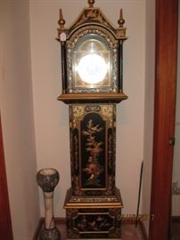German Grandmother Clock in Indonesian Style Case