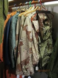 USAF uniforms from Vietnam era to Desert Storm, most with original patches