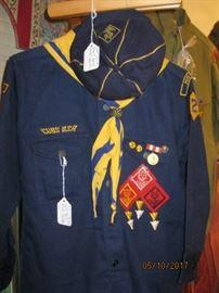 Cub Scout Uniform with patches, kerchief