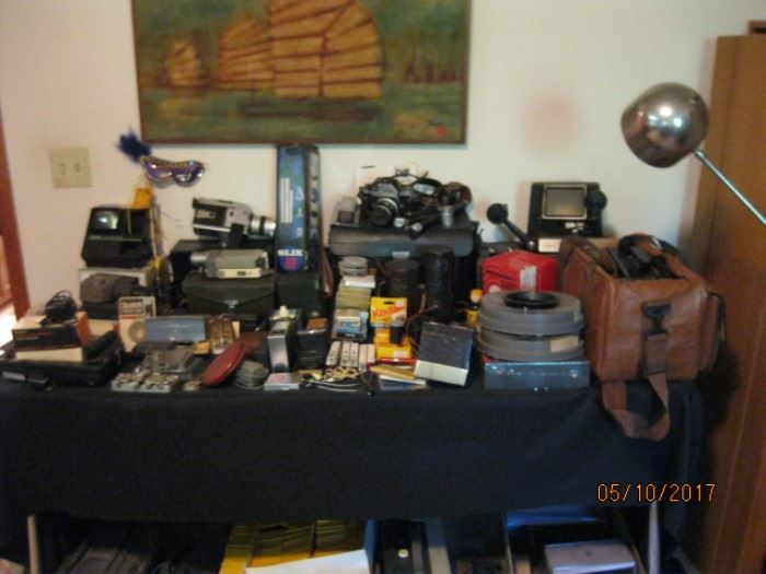 Vast collection of camera equipment