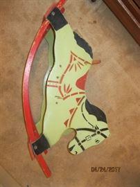 Toddler wood stenciled rocking horse