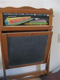 Easel style chalkboard, vintage