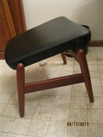 Footstool designed by Madsen & Shubell, with adjustable position