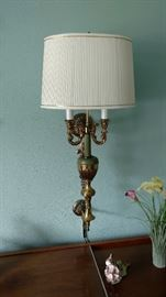 Wall hanging lamps. There are a pair