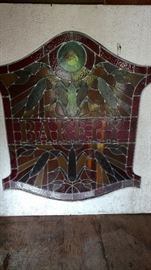 This is a very old stained glass piece.