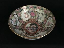 FAMILLE ROSE MEIJI PERIOD BOWL
