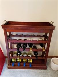 serving tray wine rack