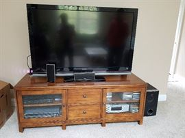 "ETHAN ALLEN flat screen tv console cabinet, 52"" flat screen tv"