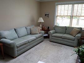 ETHAN ALLEN sofa & love seat