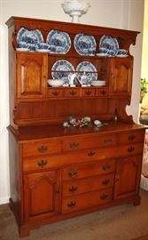 """Tell City Solid Maple Beautiful China Hutch is great storage. (54""""W x 73""""H x 20""""D)"""