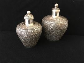 Cambodian silver snuff bottles
