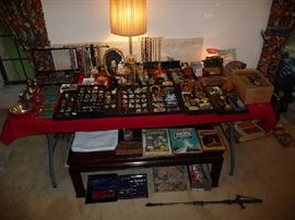 FRONT TABLE W/VALUABLES