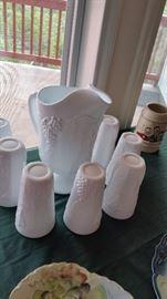 Milk Glass Set