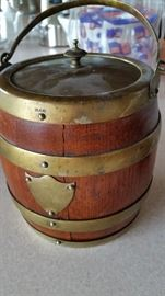 English Oak Biscuit Barrel
