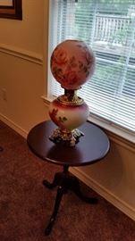 Fostoria Glass Oil Lamp