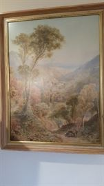 """Best Item Here- Original E. Wake Cook 1889.Painting of Great Size. His small paintings sell for thousands of dollars. This is big. About 40""""x30"""". Provenance on back."""