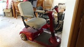 Scooter red mobile cart