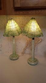 Jadeite glass lamps
