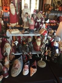SANTAS BY KATHY PATTERSON, ROBERTA TAYLOR, RALPG GIGUERE, NYLA MURPHY, SCOTT SMITH AND MANY MORE LICAL ARTISTS ( GOLDEN GLOW MEMBER)