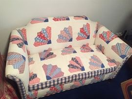 QUILTED/PATCHWORK LOVESEAT