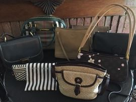 HIGH END PURSES: BURBERRY, HENRI BENDEL, MONSAC, FERRAGAMO, ETIENNE AIGNER, LONGCHAMP, BRAHMIN, COACH, BRIGHTON AND MORE....MOST WITH TAGS NEVER USED