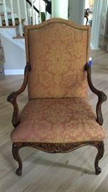 Martha Washington Chair with Nail Head Trim