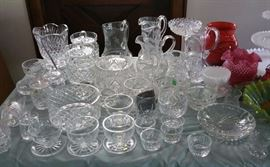 Waterford crystal, other fine lead crystal and cut glass.
