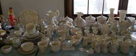 Belleek.  Lots and lots and lots of Belleek. Backstamps in every color ... black, green, red ...