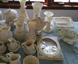 2 lovely pieces of Belleek triple weave.