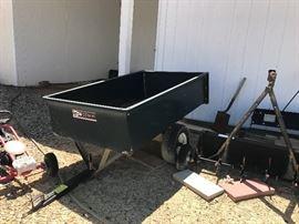 Lawn pull trailer